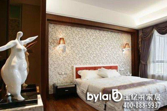 现代中式风格的别墅卧室装修