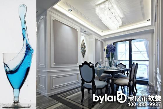 经典的欧式古典餐桌椅搭配同色系的餐具