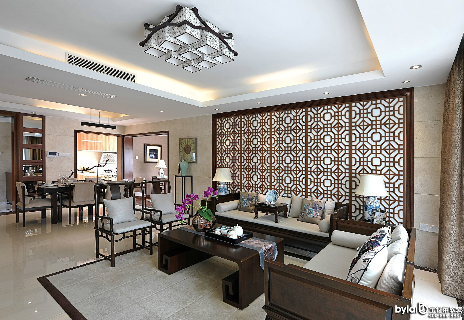 新中式风格之豪宅别墅软装设计